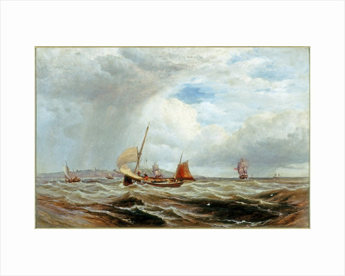 Ships and Fishing Boats in Rough Seas by Robert F. Watson
