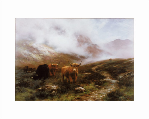 Landscape with Cattle by Peter Graham