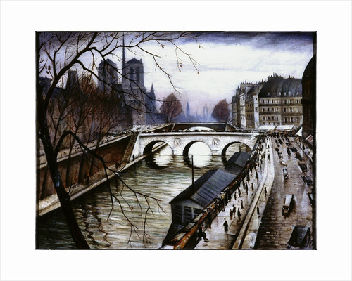Notre Dame de Paris from Quai des Grands Augustins by Christopher Richard Wynne Nevinson