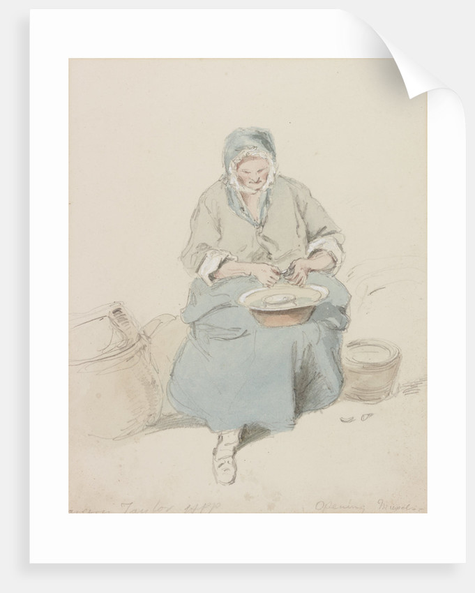Mrs Taylor Opening Mussels by Henry Perlee Parker