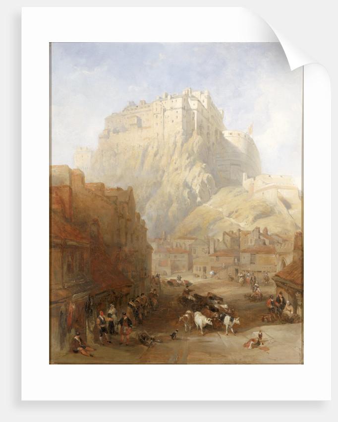 Edinburgh Castle from the Grassmarket by David Roberts