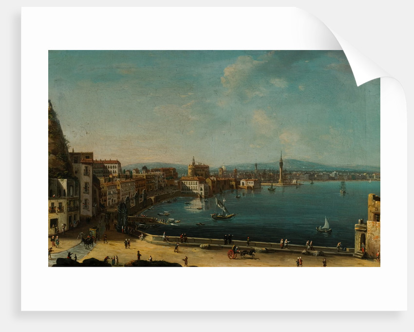 A Harbour in Italy (St Lucia) by Pietro Antoniani