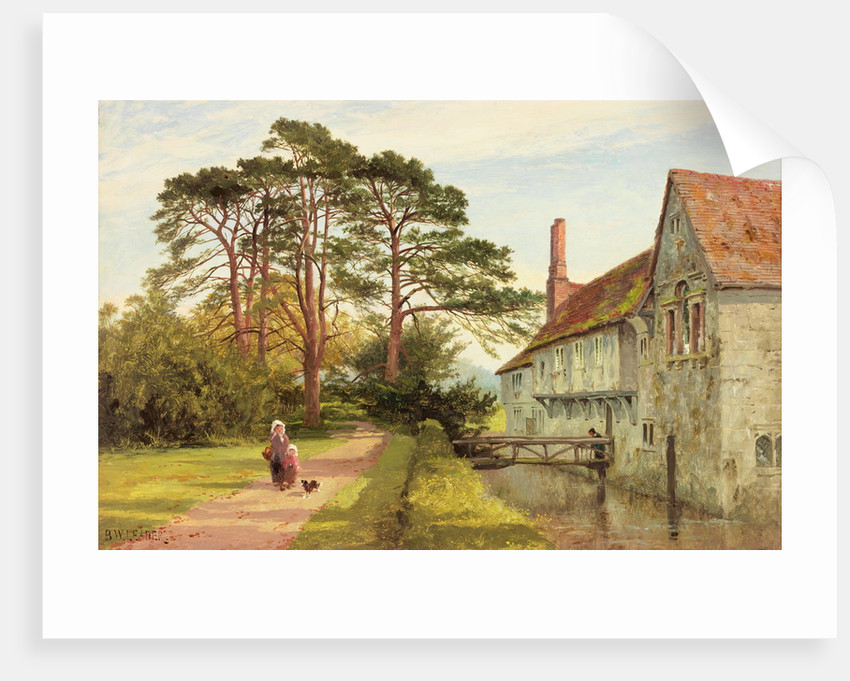Igtham Moat, Kent by Benjamin Williams Leader