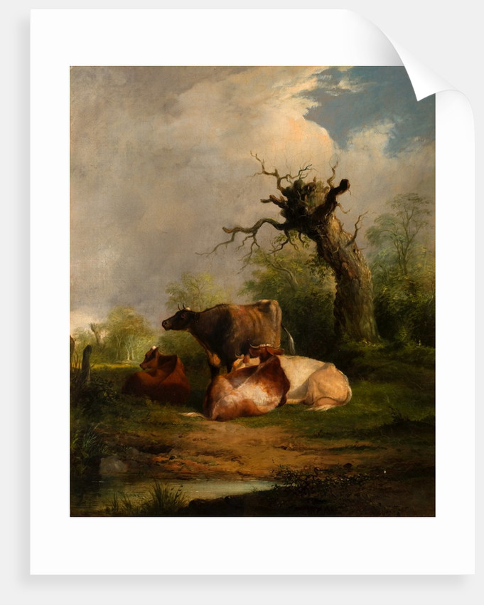 Landscape with Cattle by William Sr Shayer