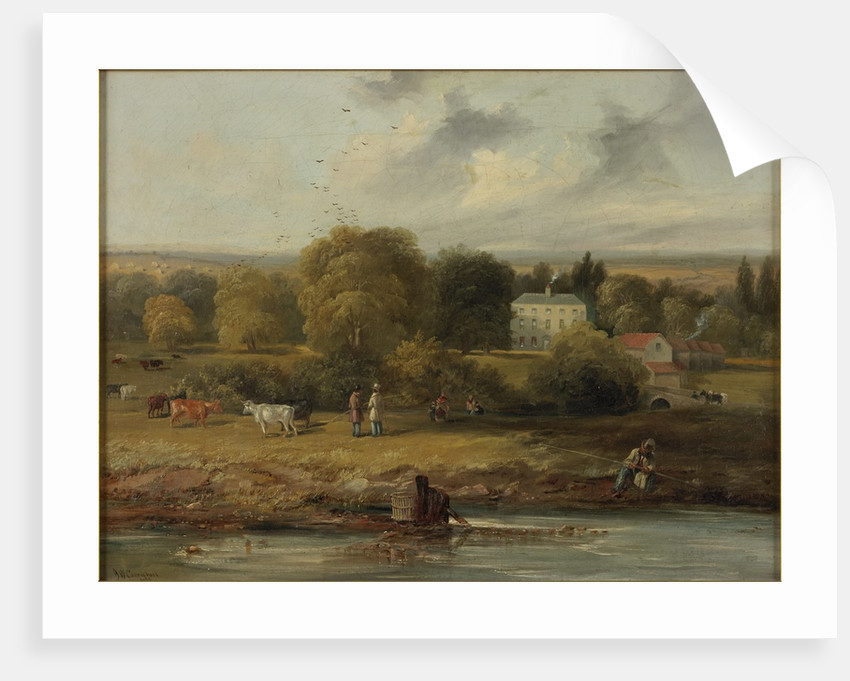 Landscape with Country House by John Wilson Carmichael