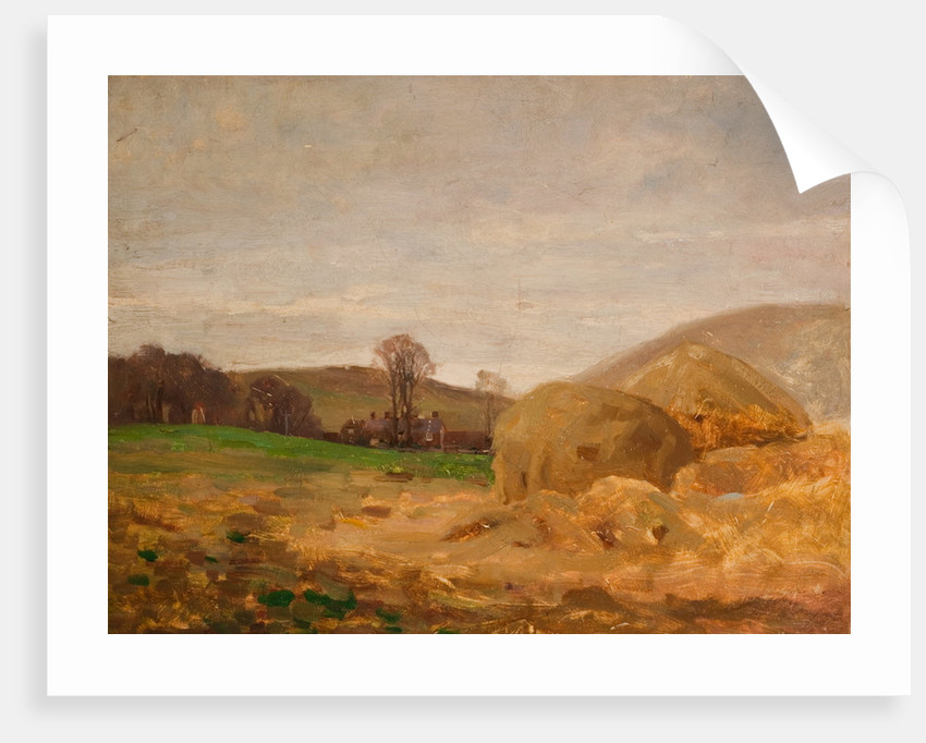 Landscape with Haystacks by Benjamin RBA Haughton