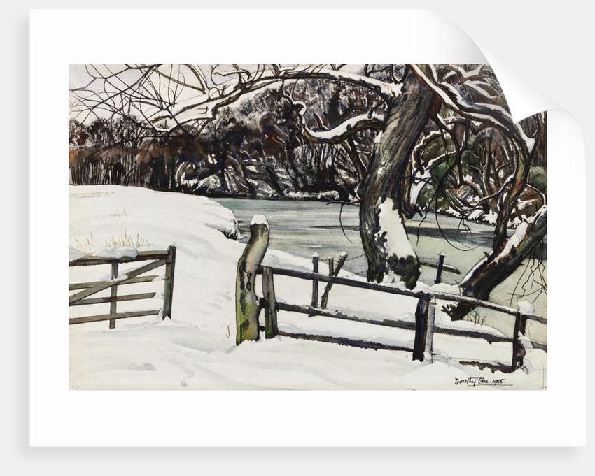 River Banks in Winter, Warkworth by Dorothy Carr