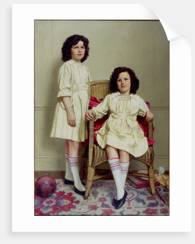 The Twins (Winifred and Leonora Reid) by Thomas Bowman Garvie
