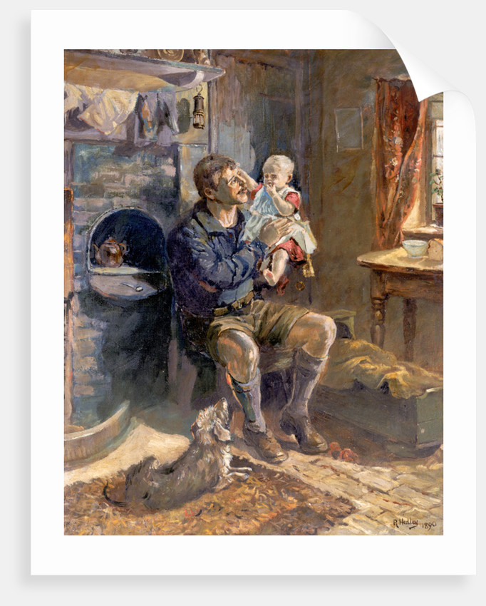 Geordie Haad the Bairn by Ralph Hedley (after)
