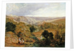 Evening View on Heaton Dene from an Eminence near Mable's Mill by Thomas Miles Richardson Senior