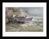 Launching the Cullercoats Lifeboat by Robert Jobling
