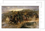 French Artillery Crossing the Flooded Aisne and Saving the Guns by John Charlton
