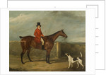 John Hall Kent in Hunting Attire Seated on a Horse by David Dalby