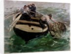 Hauling in Lobster Pots by Charles Napier Hemy