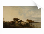 Landscape with Cattle in Marshland by Thomas Sidney Cooper