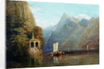 Lake Lucerne with William Tell's Chapel by Thomas Miles Richardson Senior
