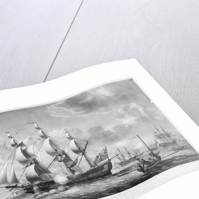 An outward bound East Indiaman sailing from the Downs by Robert Dodd