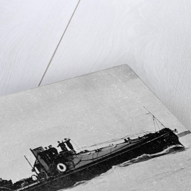 A starboard bow view of Torpedo Boat No. 95 (1894) by Anonymous