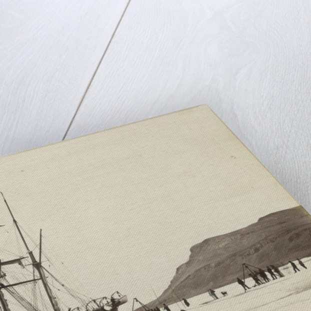 Alert' cutting into dock, Dobbin Bay, 13 August 1875 by unknown