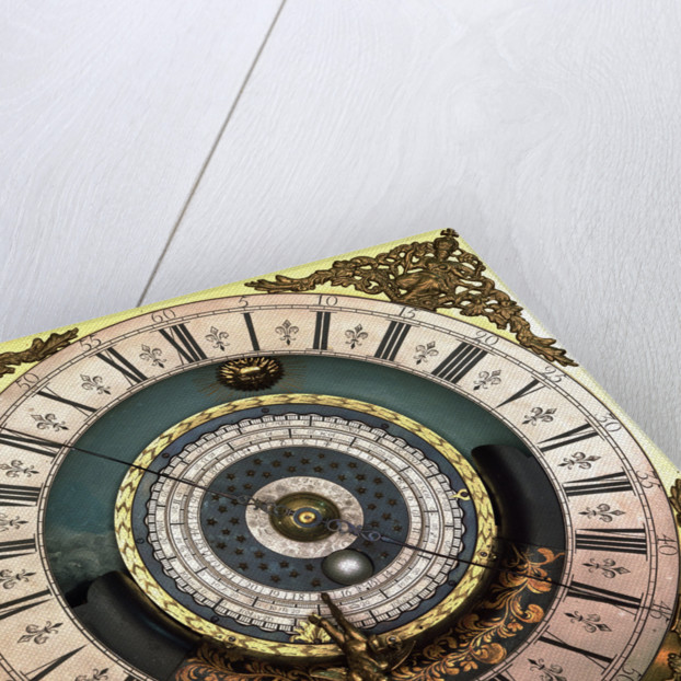 Astronomical longcase clock (detail) by Edward Cockey