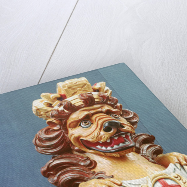 Lion figurehead by unknown