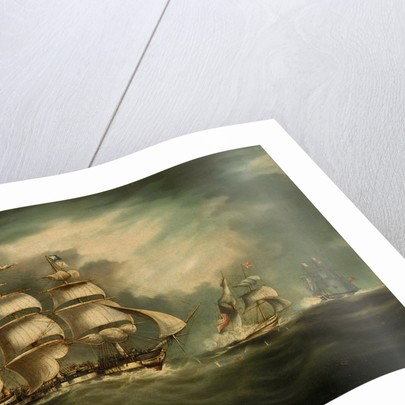 Capture of the 'Gypsy', 30 April 1812 by Thomas Buttersworth