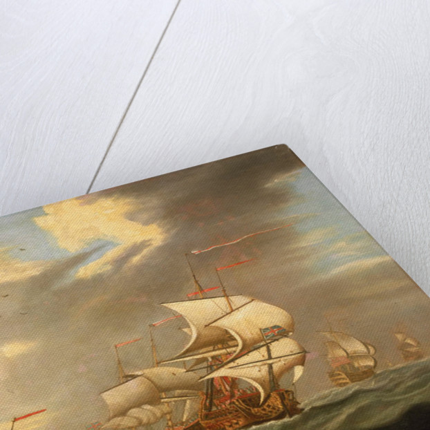 A man-of-war flying the Royal Standard, and other ships of the fleet by R. Vale