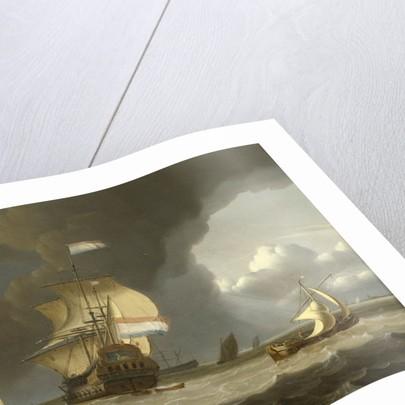 Dutch ships in the mouth of the Scheldt by Jan Claesz Rietschoof