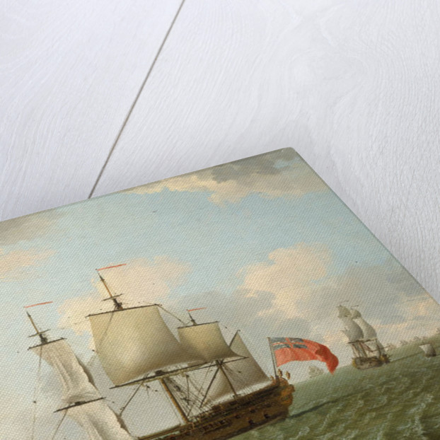 A fleet of East Indiamen by Francis Swaine