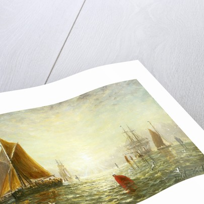 A Brixham trawler by William Adolphus Knell