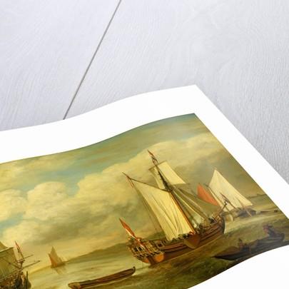 A Dutch states yacht by Lieve Pietersz Verschuier
