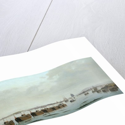 Prison hulks in Portsmouth harbour by Daniel Turner
