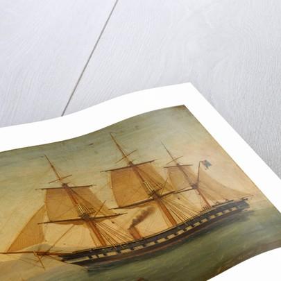The frigate HMS 'Liffey' by Tommaso de Simone