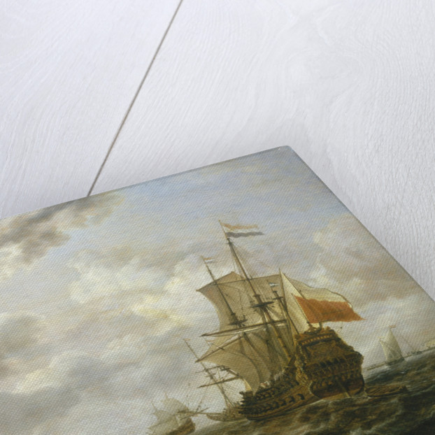 The 'Brederode' off Hellevoetsluis by Simon de Vlieger