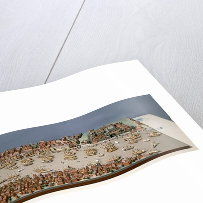 Topographic model, Port of London by Kenneth Britten