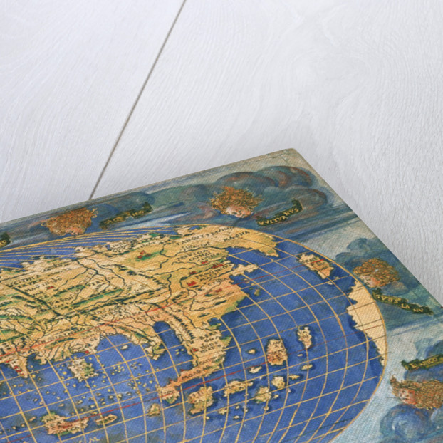 Planisphere world map by Francesco Rosselli, around 1508 by Francesco Rosselli