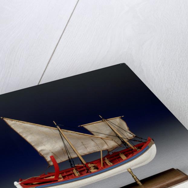 Full hull model, 6-oared ship's launch, starboard broadside by Robert A. Lightley