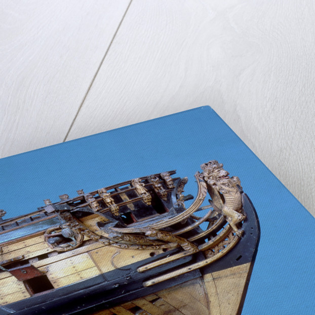 Navy Board skeleton model, figurehead by unknown