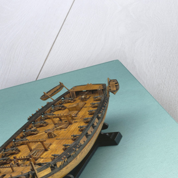 Full hull model of a Royal Navy 18-gun brig by unknown