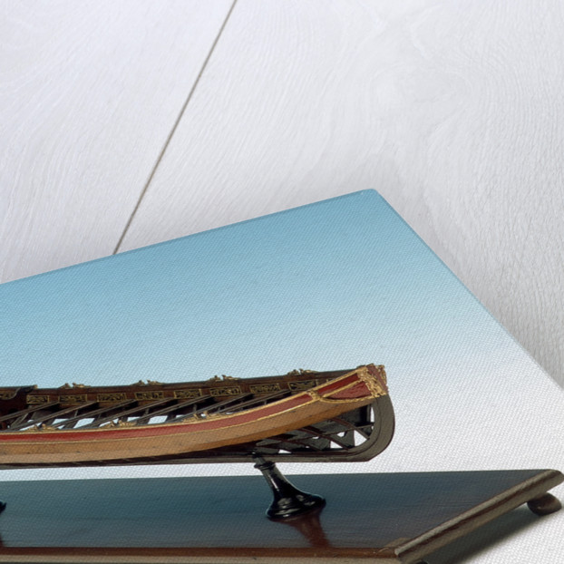 Full hull model, shallop, starboard by unknown