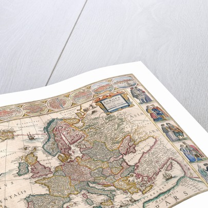Map of Europe from the Blaeu Atlas, 17th century by John Blaeu