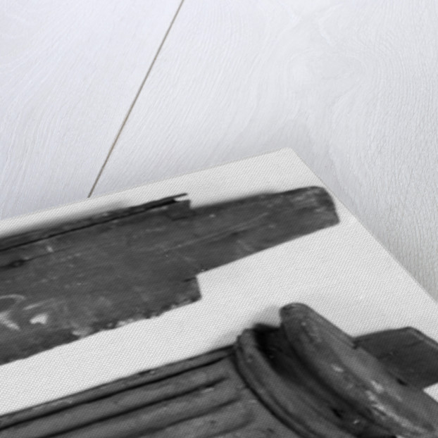 Carvings and name plaque of HMS 'Implacable' by unknown
