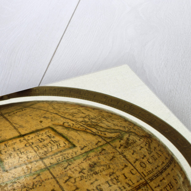 Cartouche in North Pacific Ocean by John Senex