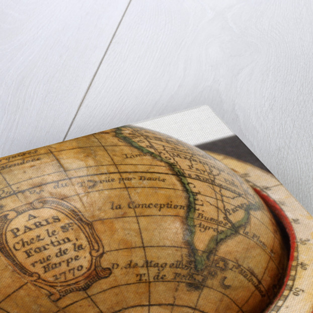 Cartouche in South Pacific Ocean by Jean Fortin