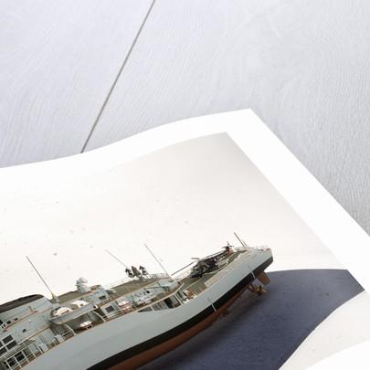 HMS 'Alacrity', port stern deck detail by John R. Haynes