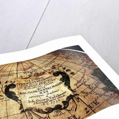 Cartouche in North Pacific Ocean by Johann Gabriel Doppelmayr
