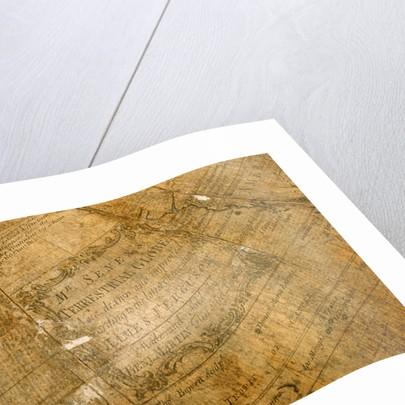 Cartouche in Pacific Ocean by Benjamin Martin