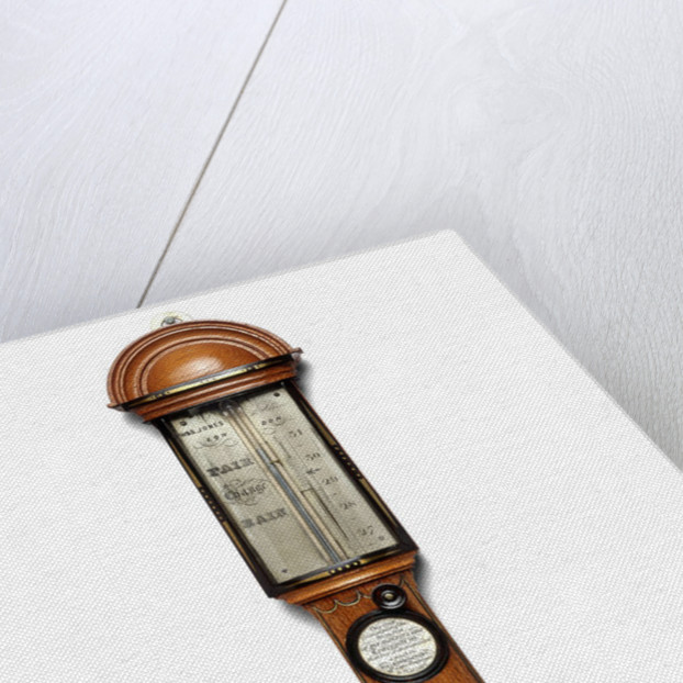 Cistern barometer, made from wood of the 'Temeraire' by W. & S. Jones