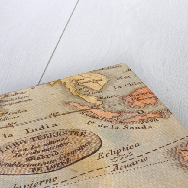 Inscription in Indian Ocean by Pedro Martin de Lopez