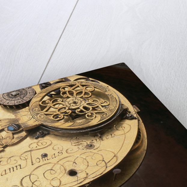 Watch movement and inscription by Johannes Janssonius